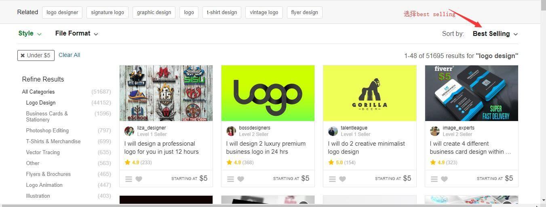 如何用5美金外包网站LOGO或手绘视频